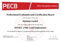 Bestanden! ISO 27001 Lead Implementer